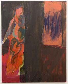 Jackie Gendel – Stained Glass Cliff - Jackie Gendel, tbt, 2019. Oil on canvas, 60 x 48 in.