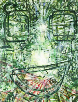 Jutta Koether – I Is Had Gone - Antibody III (Passionate Power and Rules of Action), 1993. Oil on canvas,