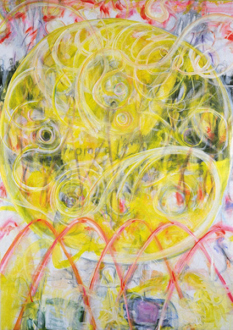 Jutta Koether – I Is Had Gone - Coronal Holes and the Sunny Eyes of Women, 1999. Oil on canvas, 72 x 52 in.
