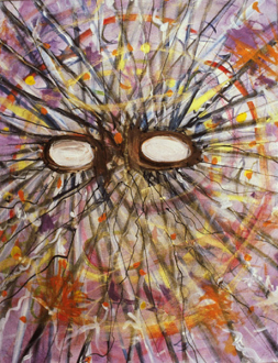 Jutta Koether – I Is Had Gone - Event Mental, (from Hysterics series) 2000. Acrylic on canvas, 20 x 16 in.
