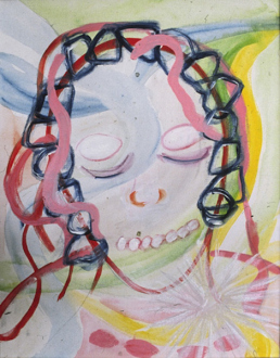 Jutta Koether – I Is Had Gone - Self-Alienating Spirit, (from Hysterics series) 2000. Acrylic on canvas, 20 x 16 in.