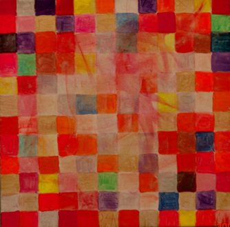 Jutta Koether – I Is Had Gone - Shirly, 2004. Acrylic on canvas, 12 x 12 in.