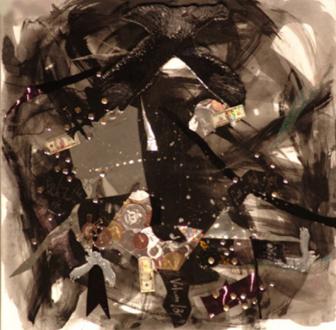 Jutta Koether – I Is Had Gone - Volume 13, 2005. Mixed media and liquid glass, 24 x 24 in.