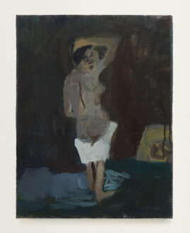 Janice Nowinski - <i> Woman Looking Back</i>, 2017. Oil on canvas, 14 x 11 in.
