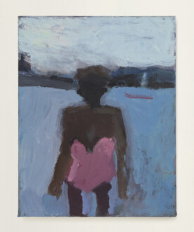Janice Nowinski - <i>Pink Bathing Suit #8</i>, 2020. Oil on canvas, 14 x 11 in.