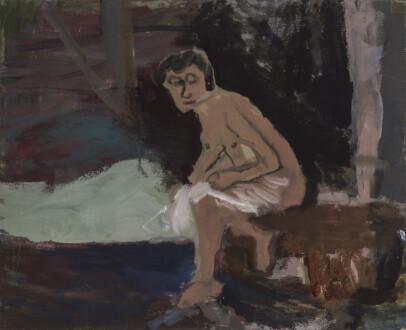 Janice Nowinski - <i> Bather</i>, 2021. Oil on linen, 13 x 16in.