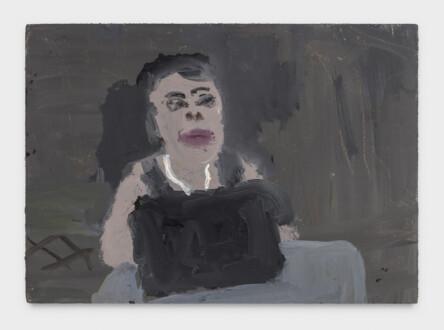 Grandma Jean - <i>Grandma Jean #6</i>, 2021. Oil on primed linen panel, 5 x 7 in.