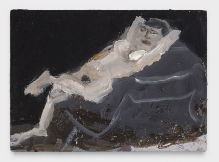 Janice Nowinski - <i>Nude on a Piano</i>, 2021. Oil on panel, 5 x 7 in.