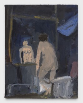Janice Nowinski - <i>Nude in Front of Mirror</i>, 2021. Oil on canvas, 14 x 11 in.