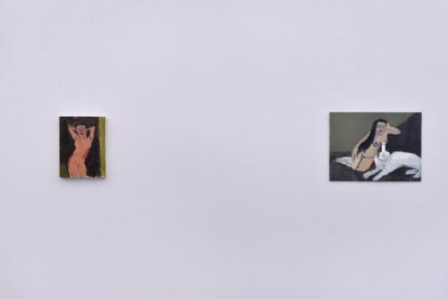 Janice Nowinski - Installation view, west wall (detail).