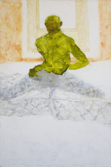 Paint as Figure – Kohei Akiba, Jonathan Delachaux, Jennifer Packer, Schandra Singh, Zheng Wei - Jennifer Packer: Acrobat, 2012. Oil on canvas, 36 x 24 in.