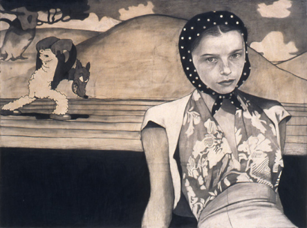 Jenny Scobel – Ingots - By and By, 2002. Graphite and wax on prepared wooden panel, 29 x 38.5 in.