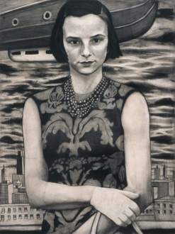 Jenny Scobel – Ingots - A Dream With No End, 2003. Graphite on prepared wooden panel, 32 x 24 in.