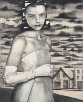 Jenny Scobel – Ingots - March, 2003. Graphite, oil and wax on prepared wooden panel, 28 x 22.5 in.