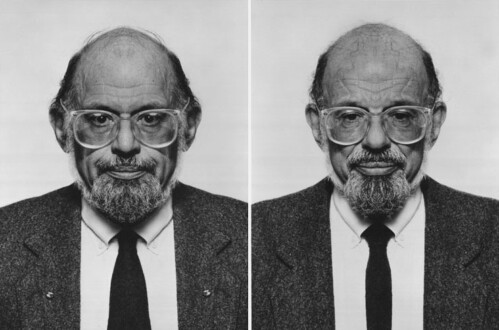 Middle European Mysticism - Jiří David, <i>Allen Ginsberg</i> (diptych), 1993-1995. Altered photographs, silver gelatin prints on Baryta Paper, 100 x 140cm overall, edition of 5 (+ 1AP)