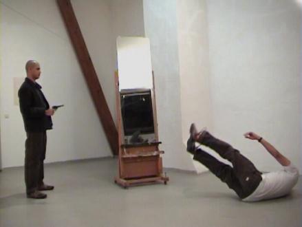 First Left, Second Right – Abhishek Hazra, Yamini Nayar, Kiran Subbaiah - Kiran Subbaiah Suicide Note, 2007. Video, 20 min loop, ed. of 6 (+2 AP).