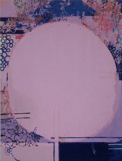 Painting in due time – Scott Anderson, Lydia Dona, Denzil Hurley, Harriet Korman, Hanneline Røgeberg, Marcus Weber - Lydia Dona, <i>Movement-Image and Molecular Memories</i>, 1995. Oil, Acrylic & Sign Paint on Canvas, 84 x 64 in.