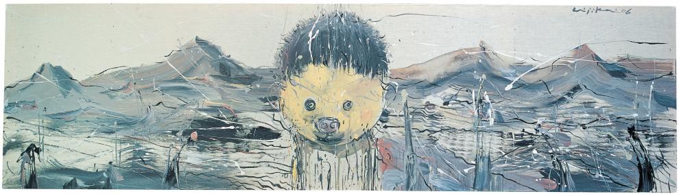 Chen Ke – Li Jikai – Wei Jia - Li Jikai, Landscape, 2006. Acrylic on canvas, 71 x 20 in.