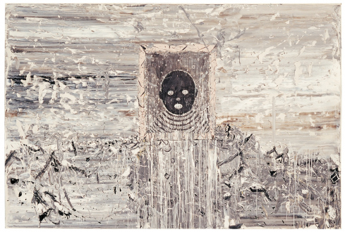 Chen Ke – Li Jikai – Wei Jia - Li Jikai, The Underground Infant, 2006. Acrylic on canvas, 118 x 78.75 in.