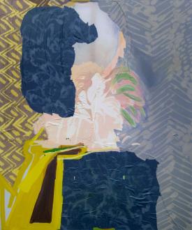 That This Is – Lauren Luloff, Cassie Raihl, William Santen - Lauren Luloff: Interior, 2011. Oil and bleached bed sheets on muslin, 72 x 60 in.