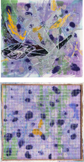 Dona Nelson – Double sided paintings - Lavender Lion, 2016. Acrylic and acrylic medium on canvas, 83 × 77 1/2 in.