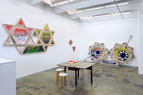 Frieze London 2020 Mike Cloud - Installation view, East and South walls. Courtesy of Thomas Erben Gallery, New York, October, 2020.