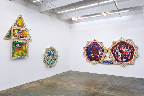 Frieze London 2020 Mike Cloud - Installation view, West and North walls. Courtesy of Thomas Erben Gallery, New York, October, 2020.
