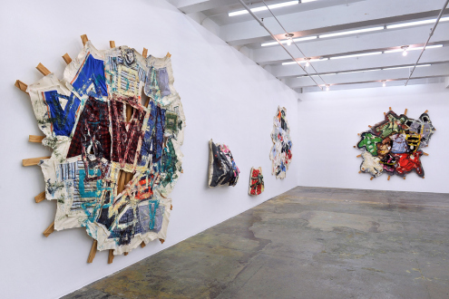Mike Cloud – Quilt painting - Installation view: west & north walls