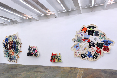 Mike Cloud – Quilt painting - Installation view: west wall