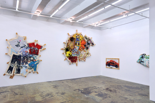 Mike Cloud – Quilt painting - Installation view: west and south walls