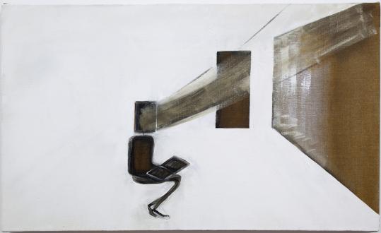 are you dead, yet? – Horst Ademeit, Jason Eberspeaker, Kahlil Robert Irving, Mira Schor - Mira Schor, The Porous Wall, 2012. Oil on linen 18 x 30 in.