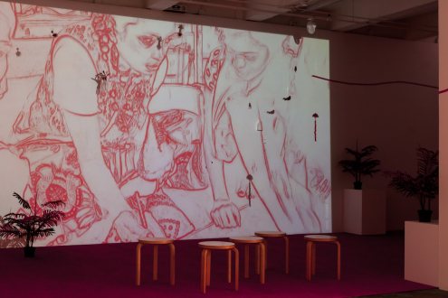Mithu Sen – I have only one language; it is not mine - Installation view: courtesy Kiran Nadar Museum of Art, New Delhi.