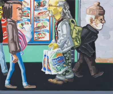 Marcus Weber – Adalbertstraße, Krazy Kat und Artforum-Leser - A-Str.11, 2009. Oil on canvas, 20 x 24 in.