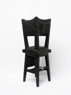 Soft Haze – Xinyi Cheng, Nabuqi, Ali Van - Nabuqi, Object No. 4, 2014. Wooden chair, fabric, varnish, 34 x 11 x 11 in.