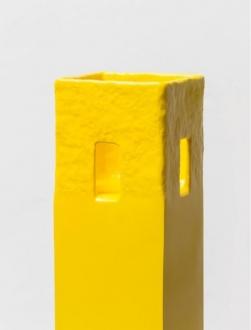 Soft Haze – Xinyi Cheng, Nabuqi, Ali Van - Nabuqi, A View Beyond Space No. 12, 2015. Stainless steel, varnish, 51 x 25 ½ x 25 ½ in.