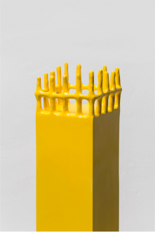 Soft Haze – Xinyi Cheng, Nabuqi, Ali Van - Nabuqi, A View Beyond Space No. 9, 2015. Stainless steel, varnish, 51 x 25 ½ x 25 ½ in.