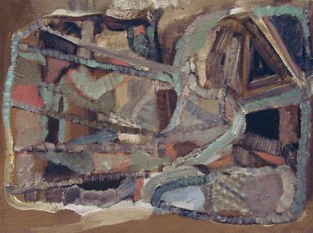 QuietlyLoud – Natasha Conway, Alisha Kerlin, Cassie Raihl - Natasha Conway, Untitled, 2010. Oil on linen, 12 x 16 in.