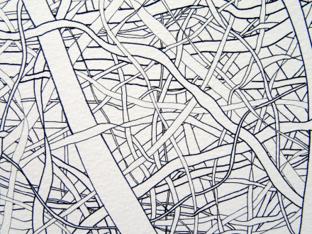 Nadia Khawaja – Drawings – Videos- Photographs - Nadia Khawaja, Drawing 29, 2010. Felt-tip pen on paper, 29.5 x 39.5 in (detail).