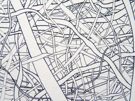 Nadia Khawaja – Drawings – Videos- Photographs - Nadia Khawaja, Drawing 29, 2010. Felt-tip pen on paper, 29.5 x 39.5 in (detail).