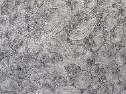 Nadia Khawaja – Drawings – Videos- Photographs - Nadia Khawaja, Drawing 43, 2009. Felt-tip pen on paper, 41.5 x 60 in (detail).