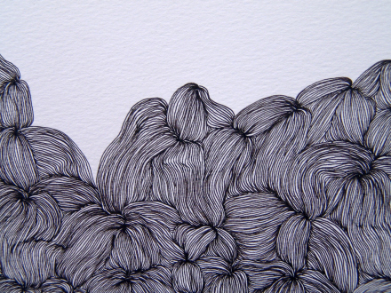Nadia Khawaja – Drawings – Videos- Photographs - Nadia Khawaja, Drawing 32, 2010. Felt-tip pen on paper, 29.5 x 39.5 in (detail).