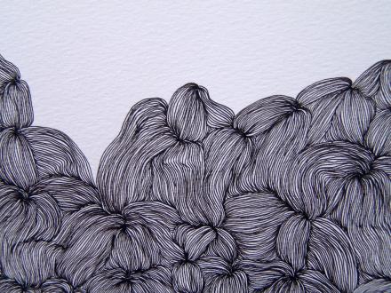 Nadia Khawaja – Drawings – Videos- Photographs - Nadia Khawaja, Drawing 32, 2010. Felt-tip pen on paper, 29.5 x 39.5 in (detail).