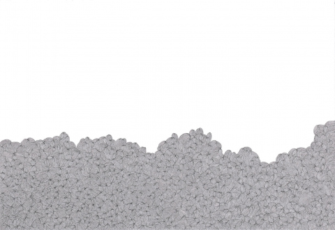 Nadia Khawaja – Drawings – Videos- Photographs - Nadia Khawaja, Drawing 32, 2010. Felt-tip pen on paper, 29.5 x 39.5 in.
