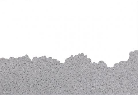 Nadia Khawaja – Drawings – Videos- Photographs - Nadia Khawaja, Drawing 32, 2010. Felt-tip pen on paper, 29.5 x 39.5 in.