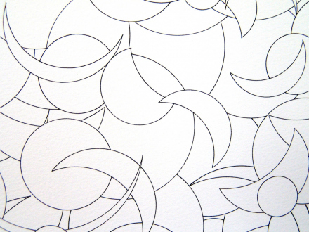 Nadia Khawaja – Drawings – Videos- Photographs - Nadia Khawaja, Drawing 34, 2010. Felt-tip pen on paper, 29.5 x 39.5 in (detail).