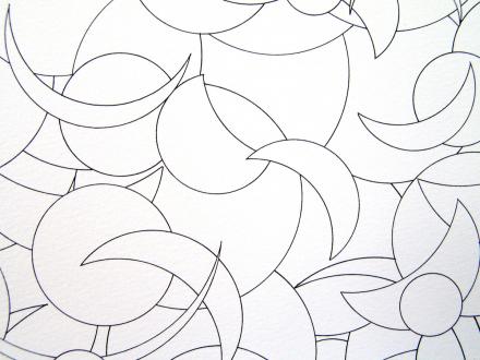Nadia Khawaja – Drawings – Videos- Photographs - Nadia Khawaja, Drawing 34, 2010. Felt-tip pen on paper, 29.5 x 39.5 in (detail).