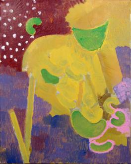 of certain instability – Whitney Claflin, Harriet Korman, Nolan Simon, Hans-Peter Thomas aka Bara - Nolan Simon, <i>Guts (Thanks)</i>, 2011. Oil on canvas, 20 x 16 in.