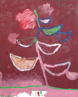 of certain instability – Whitney Claflin, Harriet Korman, Nolan Simon, Hans-Peter Thomas aka Bara - Nolan Simon, <i>I Flora Oral</i>, 2011. Oil on canvas, 20 x 16 in.