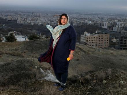 Newsha Tavakolian Art Basel Hong Kong - <i>Portrait of Pani / Blank Pages of an Iranian Photo Album</i>, 2014 - 2015, Archival inkjet print, 43 1/4 x 57 7/8 in, edition of 7 + 2 AP.