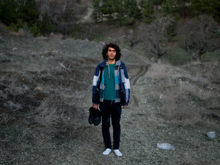 Newsha Tavakolian Art Basel Hong Kong - <i>Portrait of Mehdi. Blank Pages of an Iranian Photo Album</i>, 2014-2015, Tehran, Iran, 106 x 141 cm.